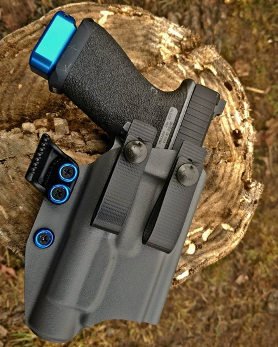 Glock 19 with TLR1 Soft Loop Appendix Carry Holster
