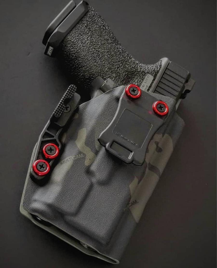 Glock 19 with Inforce APLc Black Multicam Holster