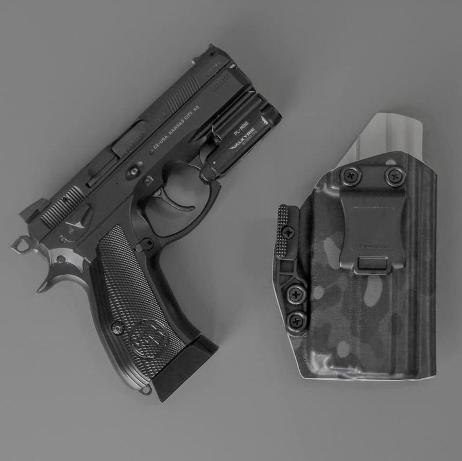 CZ P-01 with O-Light PL Mini Black Supercam Holster