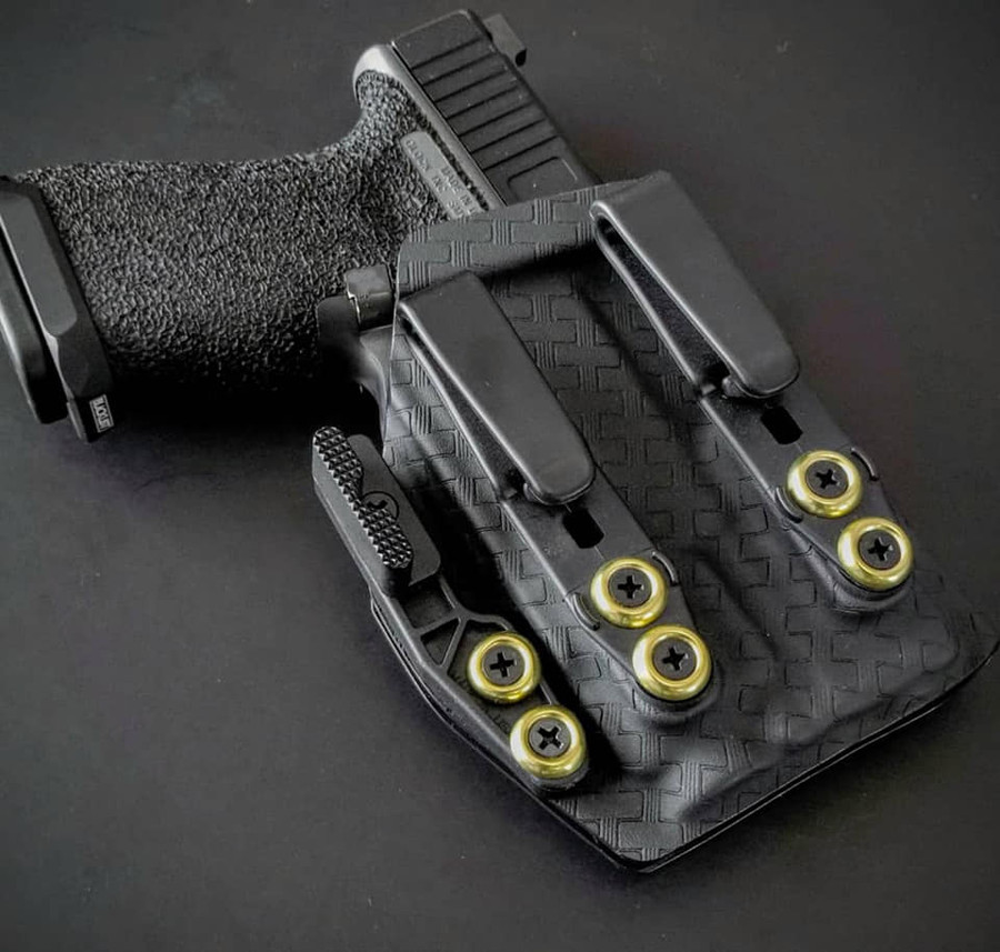 Glock 19 with TLR7 Holster Black Basketweave