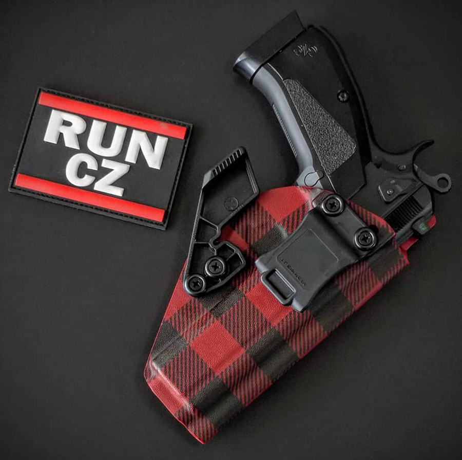 CZ SP-01 Red Flannel  Appendix Carry Kydex Holster