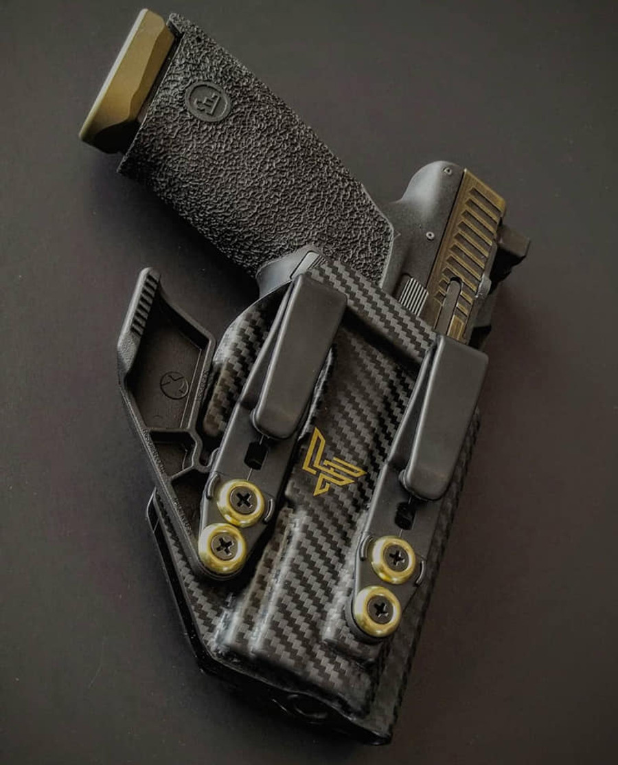 CZ P10c Appendix Carry Holster Black and Gold