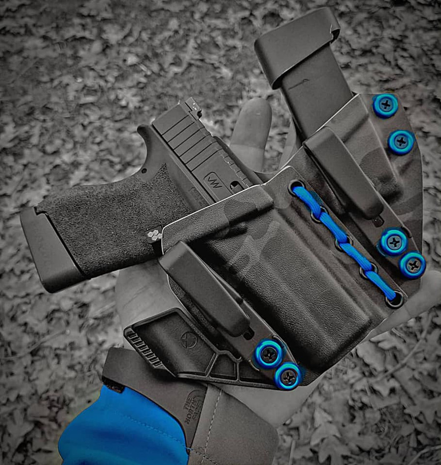 Glock 43 Appendix Carry Holster with Shockcord