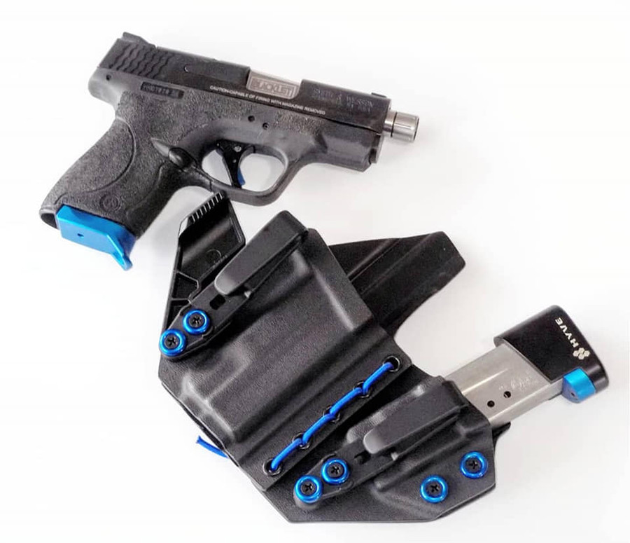 M&P Shield Appendix Carry Holster with Shockcord