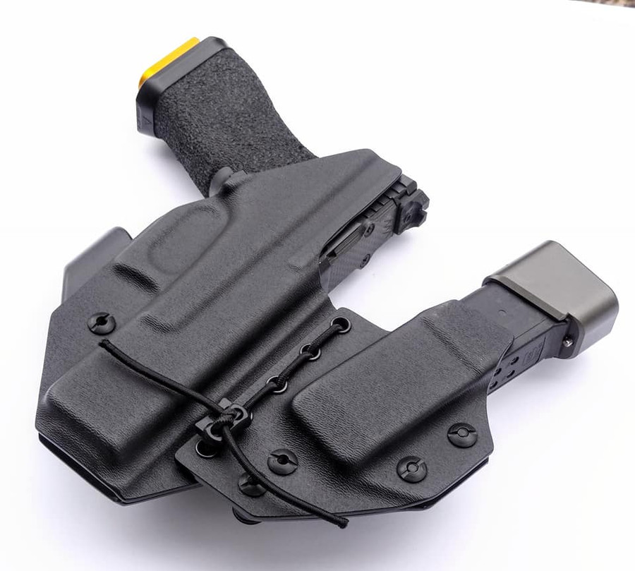 Glock 17 Left Handed Appendix Carry Holster with Shockcord