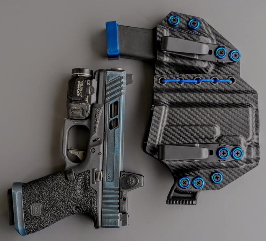 Glock 19 Streamlight TLR7 Appendix Carry Holster with Shockcord