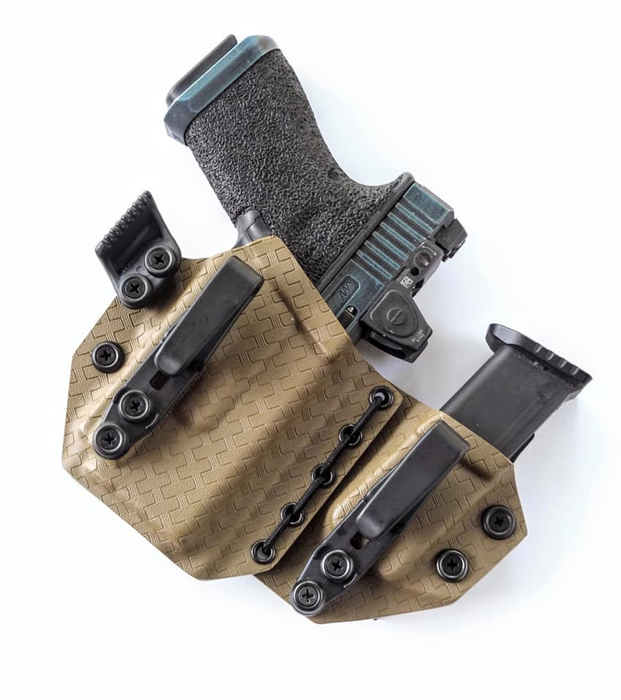 Glock 19 with O-Light PL Mini Flexible Appendix Carry Holster