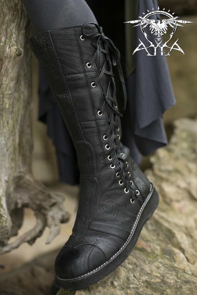 Spiral Moto Boots - Made to Order