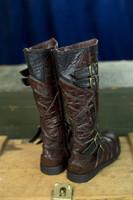 Leather Vajra Moto Boots (Hidden Pockets) - Special