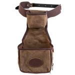 This unique product crafted in the USA is made of premium materials and includes a waist belt. It has two pockets for shells and other accessories.
