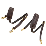 """Leather Shoulder Straps, 1"""" and .75"""" in width. The variations allow for versatility and flexibility. This item is made in the USA at Frost River."""