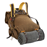 These premium leather straps will attach a bedroll or sleeping bag to the bottom of your Frost River pack. The straps weave through the lash squares and secure the item with solid brass hardware.