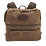 This pack is made with the highest quality materials including waxed canvas, leather, and solid brass hardware.