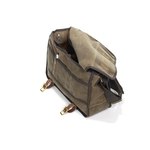When the flap is open some organizational features are visible. This bag is durable and sure to last for years to come.