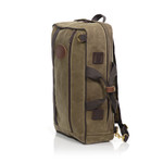 The Voyageur Backpack is a unique and versatile bag that is handcrafted in Duluth, MN at Frost River.