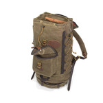 The made in America Summit Boulder Jct. is made of high quality materials including solid brass hardware, waxed canvas, leather, and laced cord.