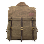 The Old No. 7 Pack is meant to carry all of your gear in and out of a canoe. The waxed canvas, three leather straps, and solid brass hardware make this pack especially durable and ready for the Boundary Waters.