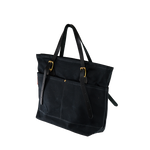 The black canvas is classic and can add an element of sophistication to ones tote.