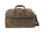 The Field Tan Curtis Flight Bag in the size medium has leather on the bottom corners to keep the bag upright when standing by itself. The Front of the bag has a zipper pocket for important items or to store the shoulder strap when not in use.