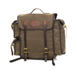 This made in America pack is unique to Frost River because of its special design including a long pocket with a divider on one side and twin stacked pockets on the other side.