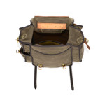 An inside view of this high quality and durable pack shows various pockets to help keep everything organized inside of this pack.