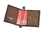 The interior has organizational pockets and an included binder to keep everything in its place.