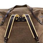 The Tumpline Replacement is made in the USA of waxed canvas and premium leather to hold up overtime.