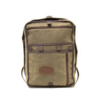 The Itasca Outset Day Pack is made of waxed canvas, webbed cotton, premium leather, and solid brass hardware. This item is made to last and guaranteed for life.