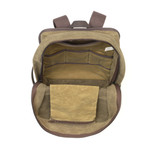 The interior of this pack has many organizational elements including an optional padded sleeve for a laptop. This product by Frost River is durable, strong, and water resistant.