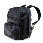 "The Heritage Black 7"" Gusset Day Pack with a padded sleeve gives two more inches of storage for folders, books, and computers. This item is made in the USA at Frost River."
