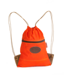 Ima Lake Cinch Bags in Hunter Orange is as durable as the field tan version. This bag is made in the USA at Frost River.