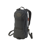 This bag is also available in Heritage Black. The High Falls -short day pack No.399 by Frost River has a cotton web sewn with daisy chain sections to provide clip or lash points on the straps. These could be especially handy to attach a drinking hose from a water bladder that's stowed inside the pack.