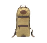 High Falls -short day pack No.399 by Frost River is a small pack made from field tan waxed canvas. Long and narrow, it's shaped to accommodate a water bladder. The long and lean layout works great when you just want to carry some gear in a low profile pack.