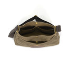 An interior view of the Crescent Lake shoulder bag shows more slip pockets for added organization.