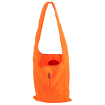 Urban Foraging Tote in Hunter Orange, lightweight canvas allow the tote to easily fold for compact storage. This product is water resistant and extremely durable.