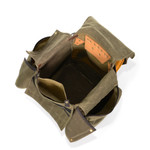 An inside view of the American made Camp Cook's Kitchen pack showcases the packs craftsmanship and quality materials.