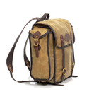 This pack is made from lighter waxed canvas that is tough and durable. This pack was designed by an eagle scout and built for the outdoors.