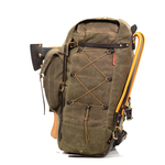 All of the Isle Royale Bushcraft Packs have a sleeve to add an optional waist belt. The No. 730 Isle Royale pack includes a Cotton Pistol Waist belt with purchase.