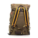 The Isle Royale Packs have our Premium Buckskin Padded Shoulder Straps and a Bridle Leather Sternum Strap included. Hauling a heavy load? Add one of our Canvas Padded Waist Belts to your Isle Royale Pack. This bag is made in the USA.