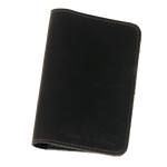 The Pocket Folio by Frost River in Heritage Black is crafted from premium leather and hand stamped with the Frost River logo.