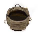The interior of this high quality pack is open and can hold your extra gear that doesn't fit in your canoe pack.