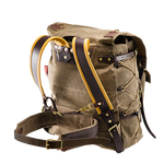 This item feeds though a slip on the back of a backpack. When using the Waist Belt it can relive pressure off of the shoulders.