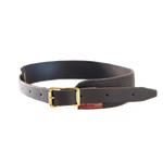 The  Cotton Waist-belt is crafted from premium leather, webbed cotton, and solid brass hardware. This item is made in Duluth, MN at Frost River.