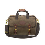 The Navigator Briefcase is the largest briefcase that Frost River sells. It has a many storage options that are sure to suit the needs of the owner far past the office.