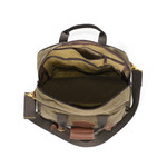 An inside view shows that the middle of the bag is similar to the other Frost River briefcases, including multiple compartments sure to fit all of your items with ease.
