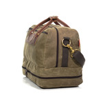 The American made luggage is made with quality goods and is ready for years of adventures. The solid brass, waxed canvas, and leather is as durable as it is strong.