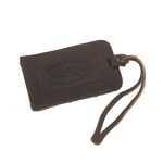 Each leather luggage tag is hand-burnt with the Frost River logo.