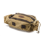 The brindle leather lash square can hold on a bedroll, tri-pod, or any other piece of gear you want to attach.