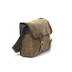 The bag is a logical useful size to be used professionally on -the-job or as a school bag for a student. It's made from robust raw materials to hold up to hard use outdoors in the field as well.