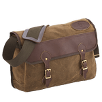 The Carrier Brief is also available in Premium with leather and waxed canvas.